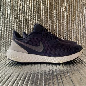 Nike Womens Revolution 5 BQ3207-500 Blue Running Shoes Lace Up Low Top Size 7
